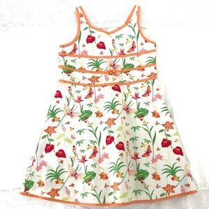 Gymboree spring floral butterfly dress🦋🍃🌺🌸🌼